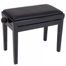 KINSMAN ADJUSTABLE PIANO STOOL ~ SATIN BLACK